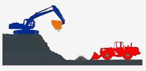 Вывоз строительного мусора на свалку с помощью ковша дробилки серии BF