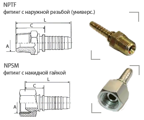 NPTF фитинги (американский стандарт)